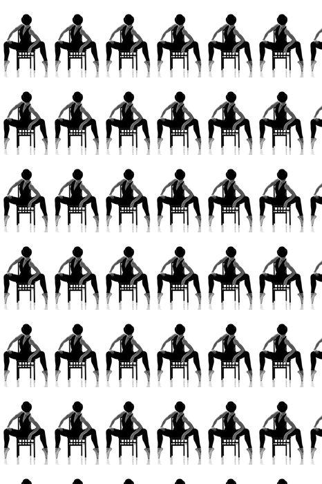 Vinylová Tapeta Hezká mladá balerína sedí na židli. Izolovaný - Balet