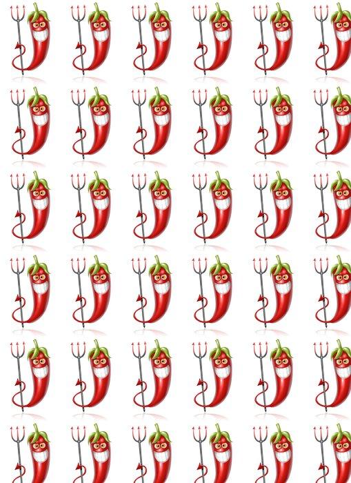 Vinyltapete Chili Hölle - Gerichte