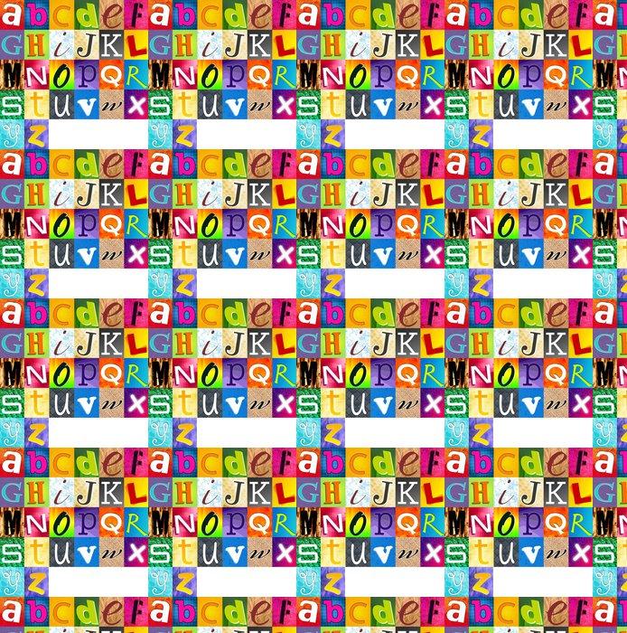 Vinylová Tapeta Vícebarevná Abeceda - Témata