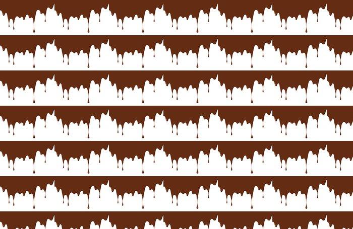Vinylová Tapeta Čokoládové kapky - Horké nápoje