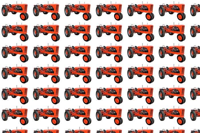 Vinylová Tapeta Obnovena traktor izolované s bílým pozadím - Nálepka na stěny