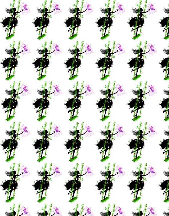 Vinylová Tapeta Víla ve vzorcích na houpačce -