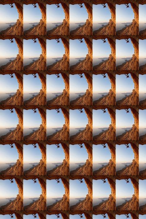 Vinylová Tapeta Horolezec při západu slunce, Kalymnos Island, Řecko - Extrémní sporty