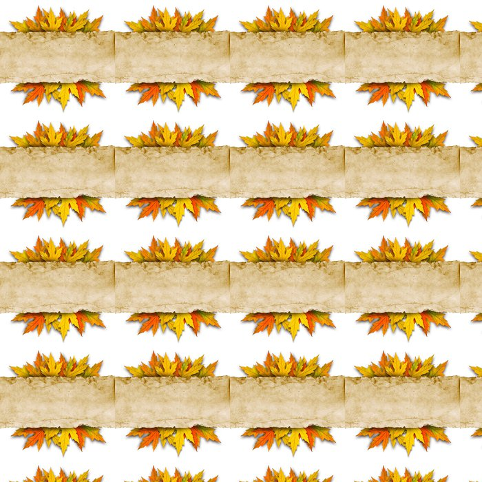 leaves and old paper Vinyl Wallpaper - Business Concepts