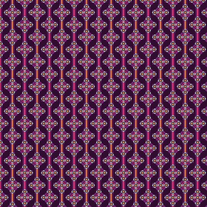 Ornament violet floral seamless background Vinyl Wallpaper - Backgrounds