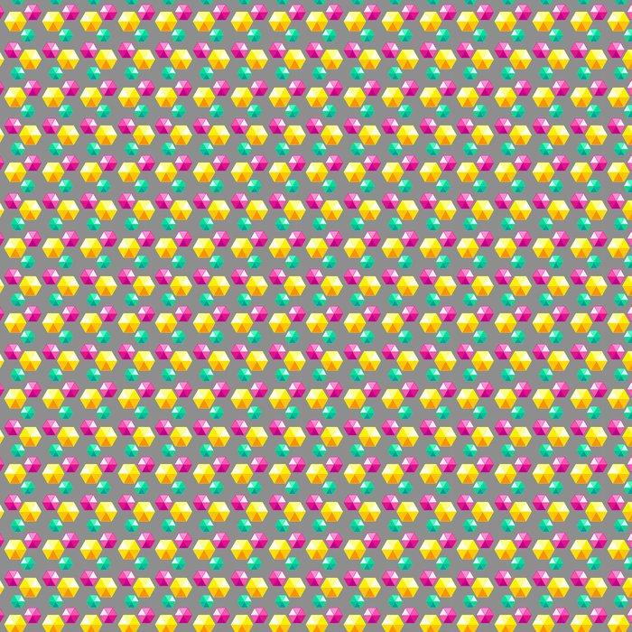 Vinylová Tapeta Barevné geometrické bezproblémové vzorek s diamanty. Vektor - Město