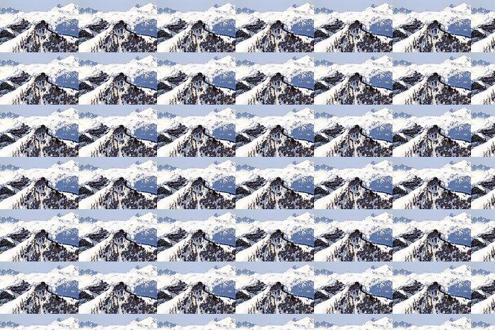 Vinylová Tapeta Snowy Ridge Lines Crystal Mountain - Hory