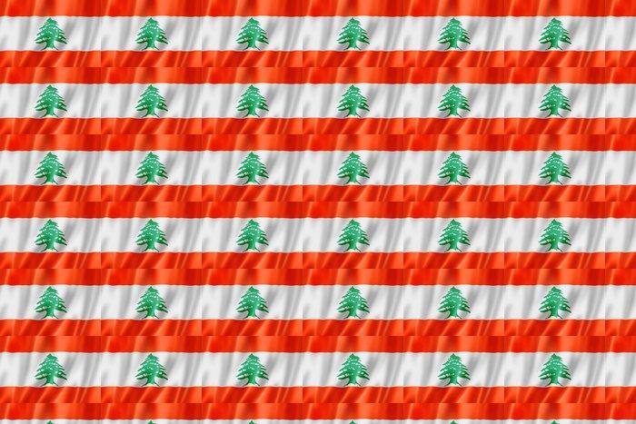 Vinylová Tapeta Libanonská vlajka - Střední Východ