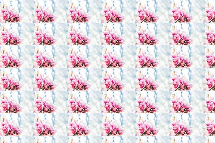 Vinylová Tapeta Růžový květ magnolie - Témata