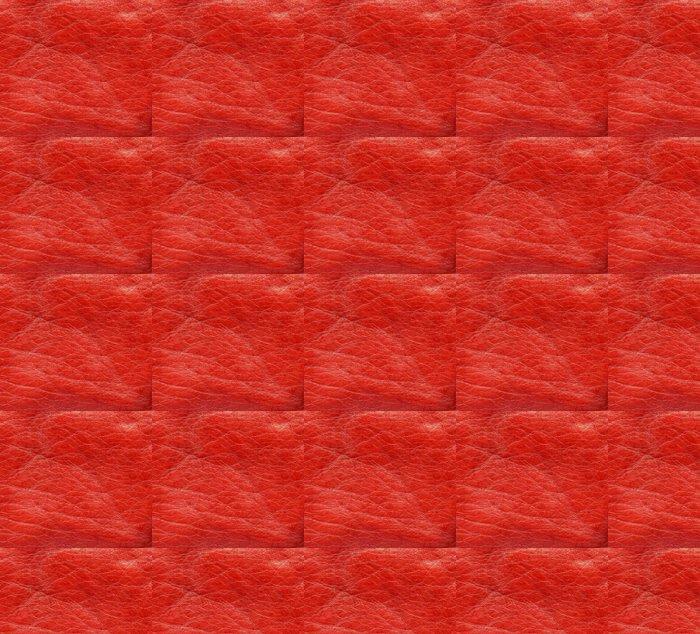 Vinylová Tapeta Červená kůže textura detailní. - Doplňky