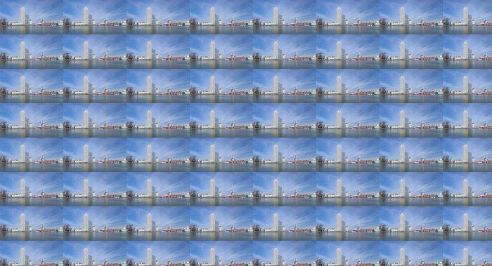 Vinylová Tapeta Panorama Rotterdamu - Město