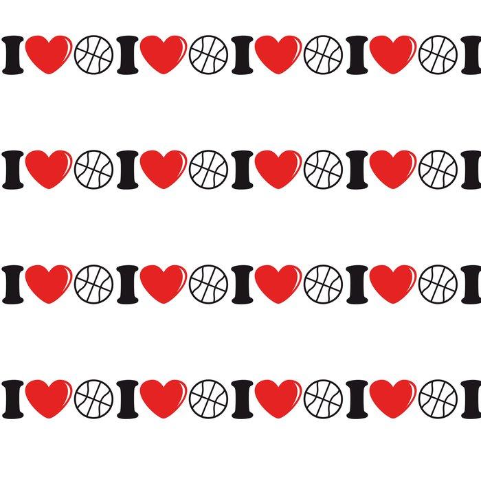 Vinylová Tapeta I_love_basketball_2c - Týmové sporty