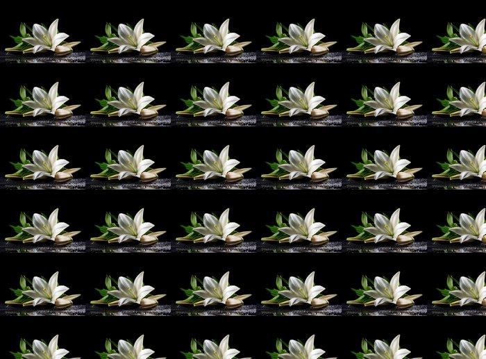 Vinylová Tapeta Bílá čerstvosti lilie - Životní styl, péče o tělo a krása