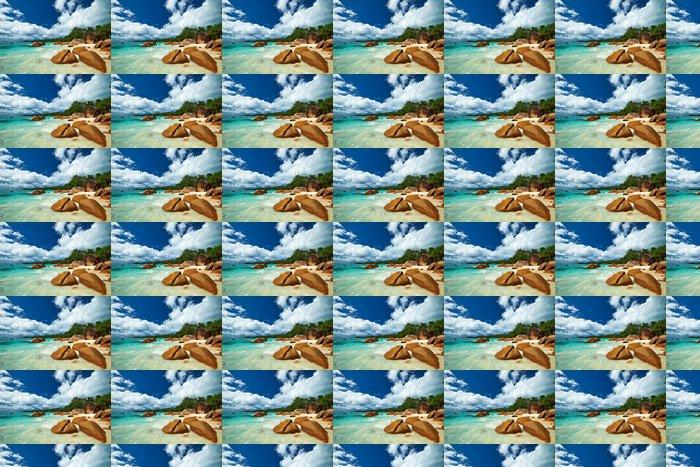 Vinylová Tapeta Krásná pláž na Seychely - Prázdniny