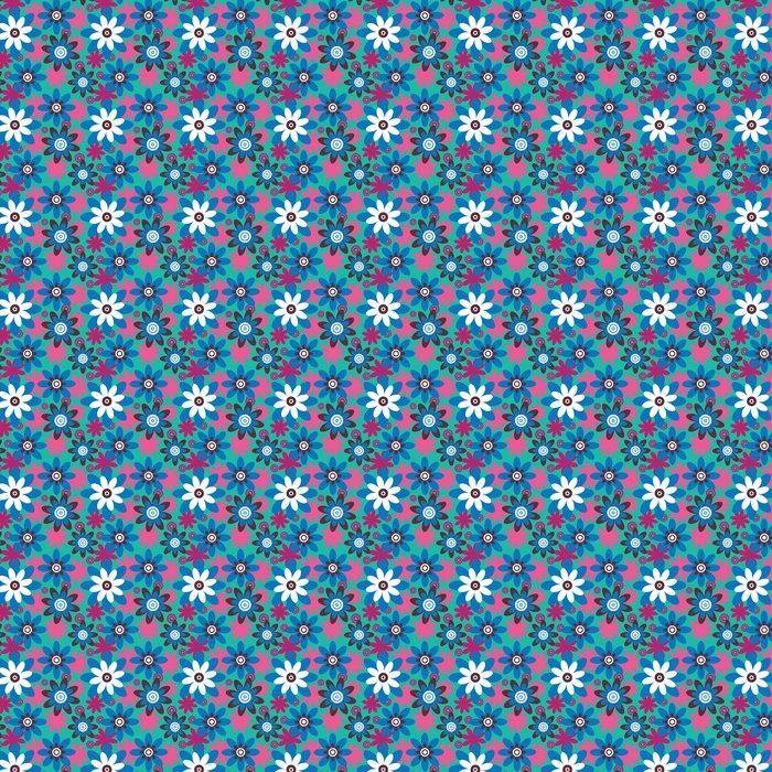 Papier peint à motifs vinyle Motif de fleurs colourfull transparente - Styles