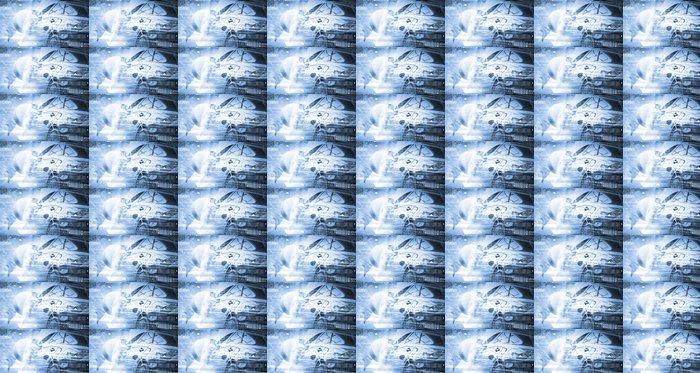 Vinylová Tapeta Zadní pohled na luxusní auta - Infrastruktura
