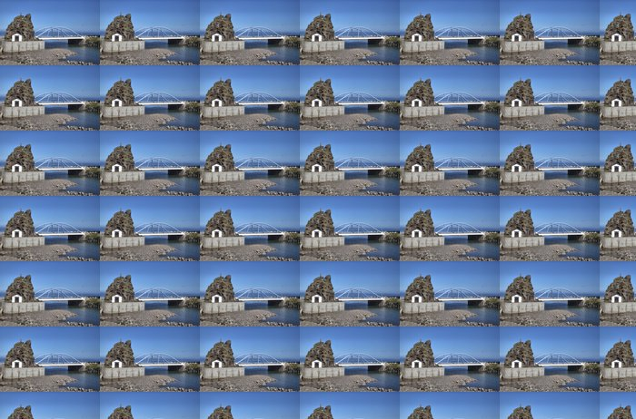 Vinylová Tapeta Sao Vicente Chapel a modrá most, Madeira - Prázdniny