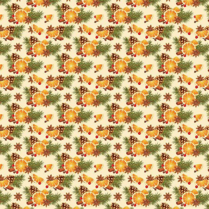 Vinylová Tapeta Bezproblémové pomeranče a koření - Jídlo
