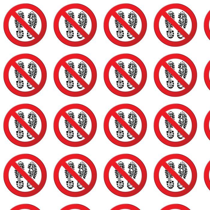 Vinylová Tapeta Zaregistrujte zakázáno nevstupujte. Zakázáno symbol s boot potiskem. - Život