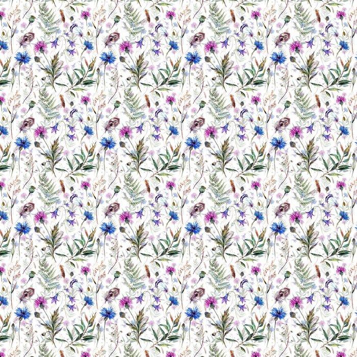 Papel pintado dibujados a mano flores silvestres acuarela pixers vivimos para cambiar - Papel pintado a mano ...