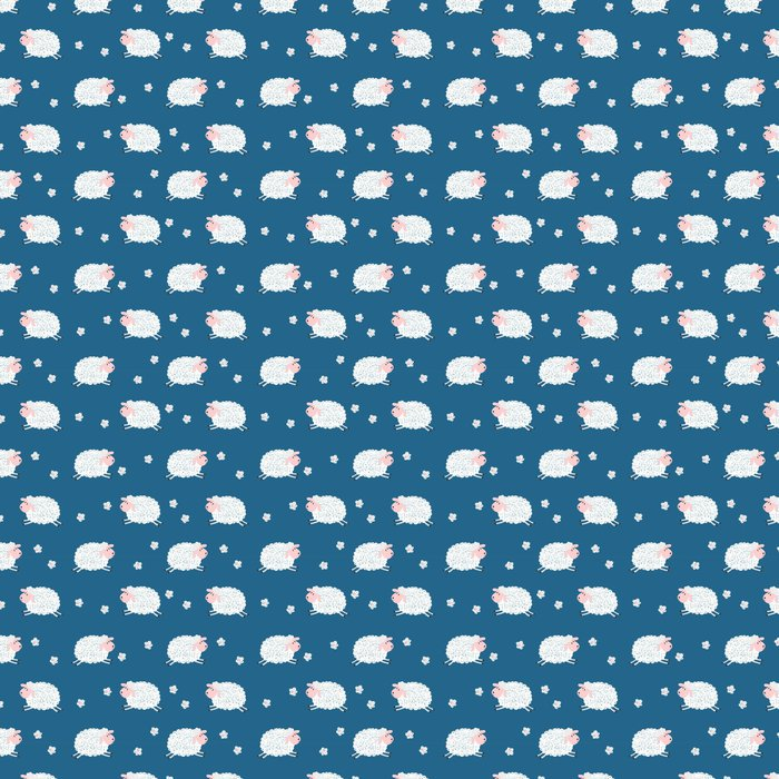 Seamless Pattern With Cute Sheep Vector Kids Background Vinyl Wallpaper