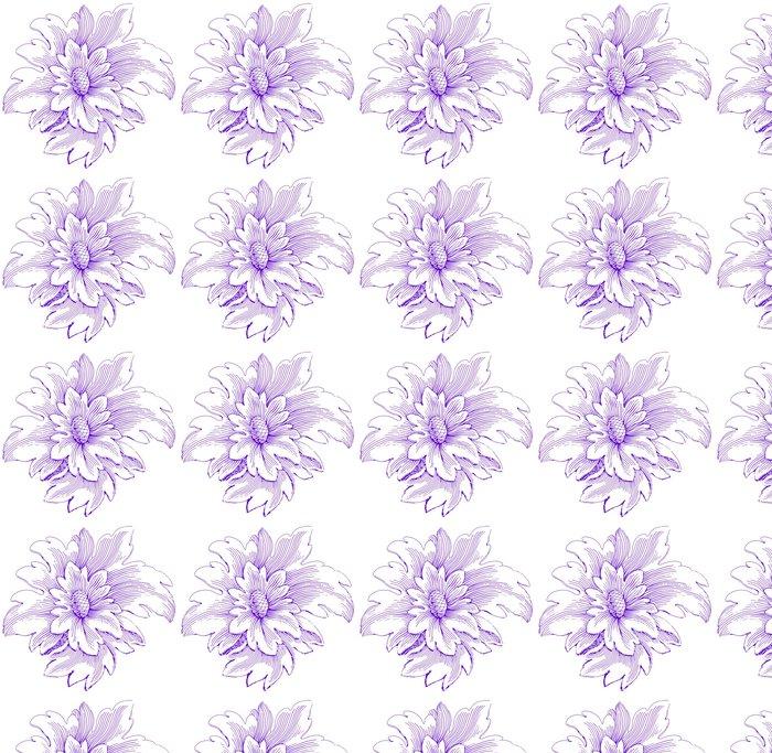 Vinylová Tapeta Skica květiny - Rostliny
