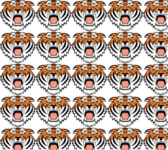 Vinylová Tapeta Tiger tetování - Savci