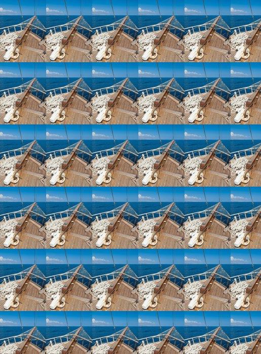 Vinylová Tapeta Lodě luk s výhledem na moře za sebou - Témata