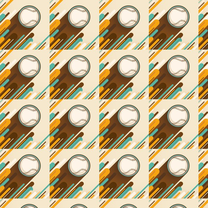 Vinylová Tapeta Modern_baseball_illustration. - Sportovní potřeby