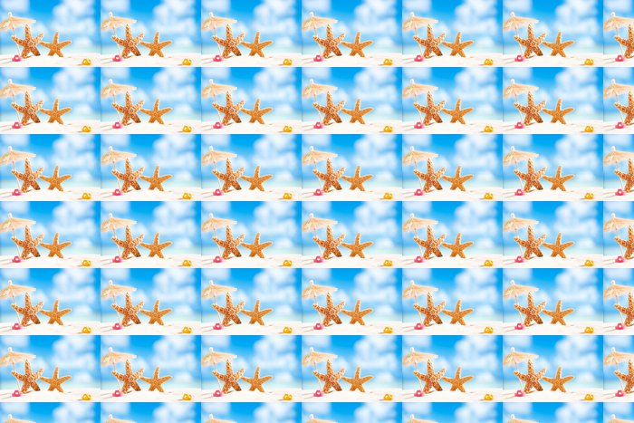 Vinylová Tapeta Hvězdice s výhledem na oceán, pláže a přímořská krajina - Prázdniny