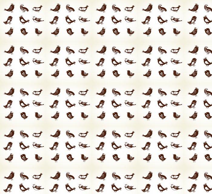 Vinylová Tapeta Sada roztomilý dekorativních ptáků - Značky a symboly