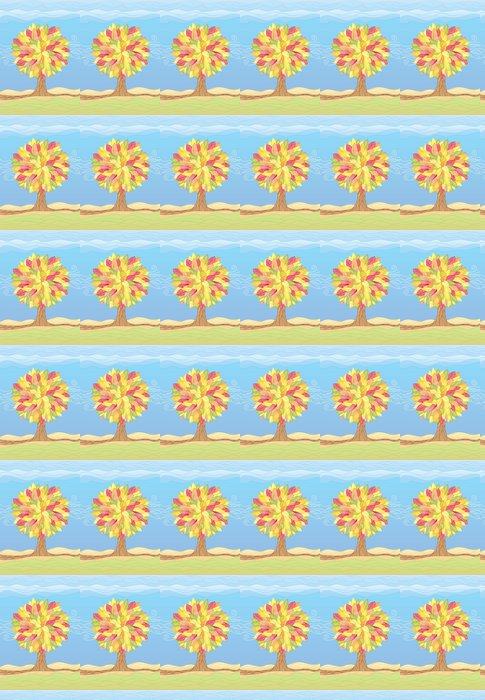 Vinylová Tapeta Podzimní strom / vektorové ilustrace - Roční období