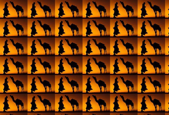 Vinylová Tapeta Původní indiánská muž s jeho Camel - Asie