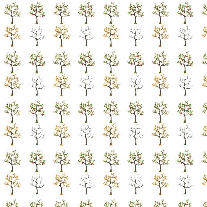 Vinylová Tapeta Four Seasons stromy umění - Zemědělství