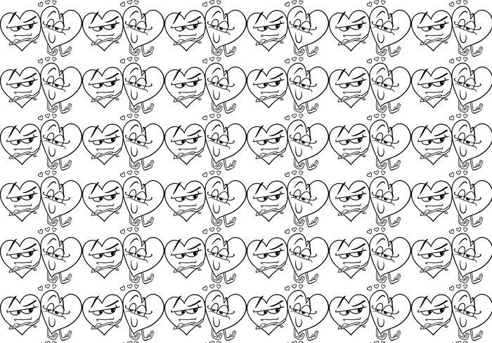 Tapete Herzen in der Liebe Cartoon Färbung Seite • Pixers® - Wir ...