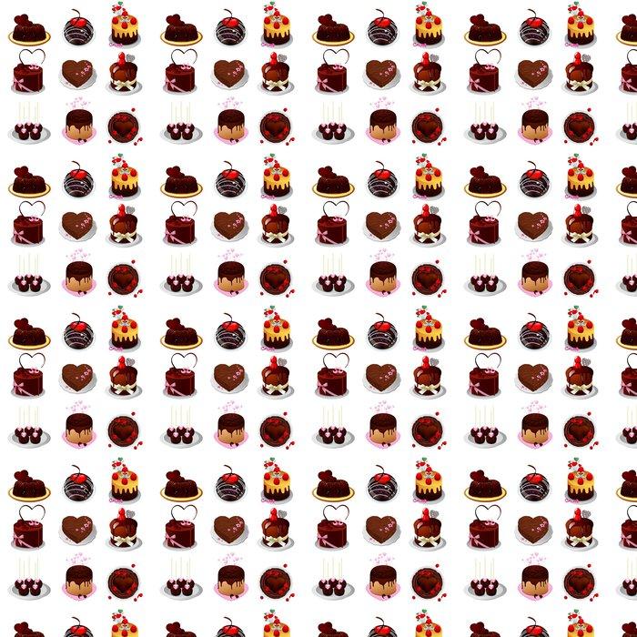 Vinylová Tapeta Čokoládový dort - Do předsíně