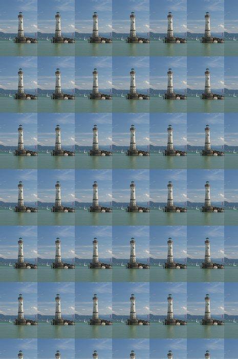 Vinylová Tapeta Maják u vchodu do přístavu Lindau - Evropa