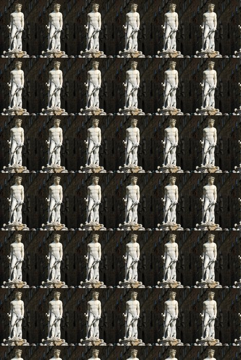Vinyl Behang Het standbeeld van Piazza della Signoria in Florence - Toscane - Ital - Monumenten