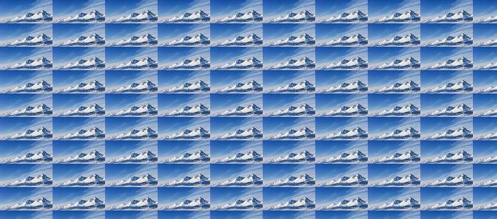 Vinylová Tapeta Dramatické vrcholy vrcholky zasněžených vrcholů vysoká nadmořská výška hora pa - Hory