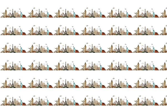 Vinylová Tapeta Cestujte po World Monuments Concept 6 - Nálepka na stěny