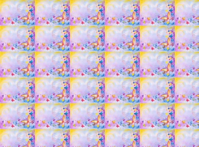 Vinylová Tapeta Buckground s motýly-akvarelů - Témata