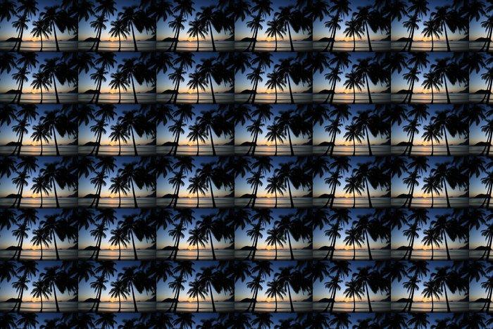 Vinylová Tapeta Tropic západ slunce - Prázdniny
