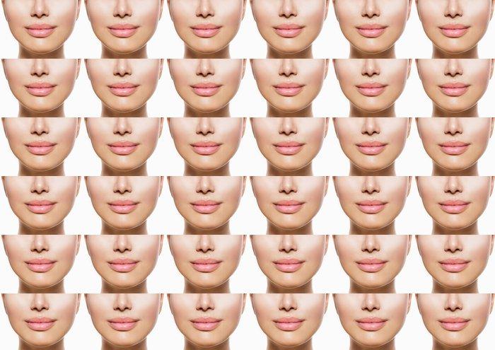 Vinylová Tapeta Krásné Perfect Lips. Sexy Mouth Detailní záběr na bílém - Témata