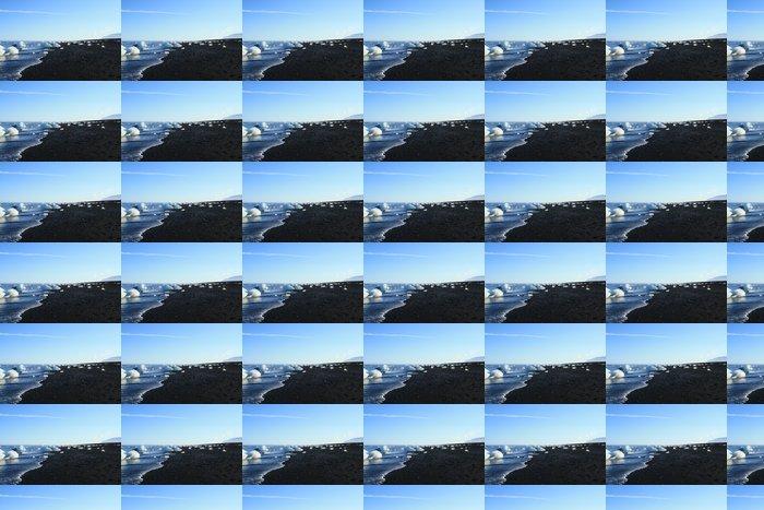 Vinylová Tapeta Spiaggia di ledovce e láva v Islanda - Město