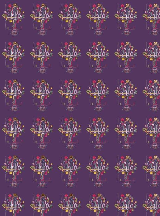 Vinylová Tapeta Sociální sítě grafika info, vektor strom -