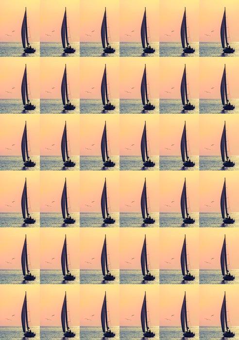 Vinylová Tapeta Panorama plachetnice a dva racek - Témata