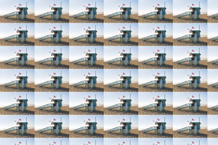 Vinylová Tapeta Santa Monica beach plavčík věž v Kalifornii - Americká města