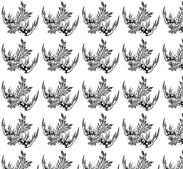 Vinylová Tapeta Tetování se fénix - Imaginární zvířata
