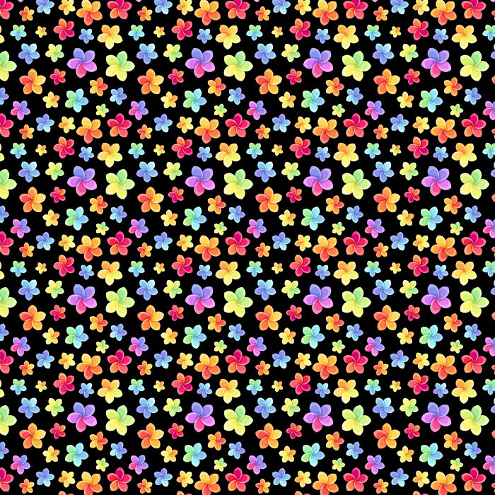 Seamless pattern with colorful flowers. Vector illustration. Vinyl Wallpaper - Flowers