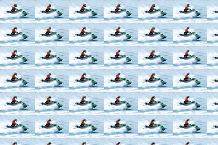 Vinylová Tapeta Muž jízdy na vodním skútru - Vodní sporty